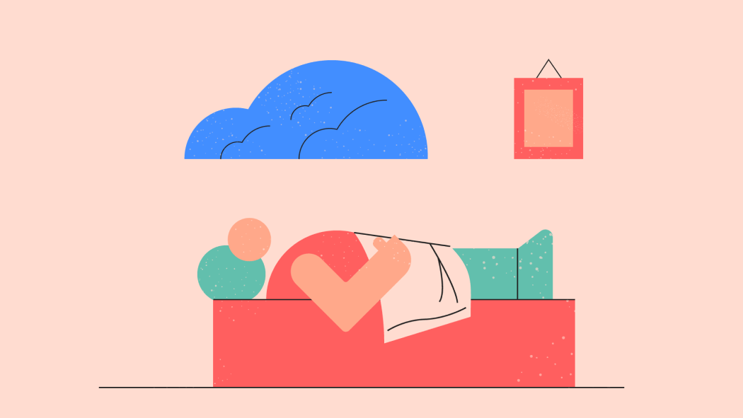 Illustration of someone that suffers from depression