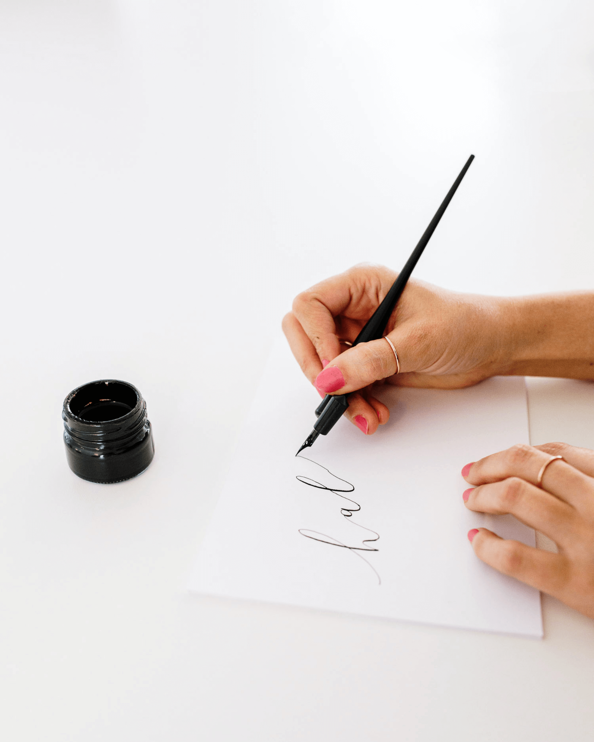 Ana Luiza Pointed Pen Calligraphy