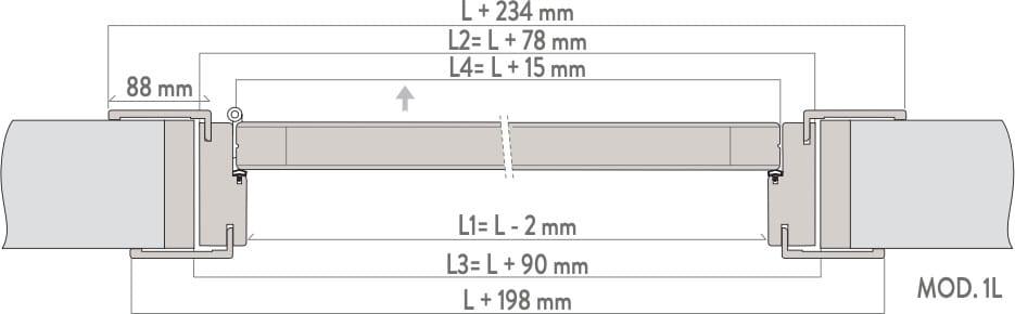 интериорна врата с панти Garofoli - схема за монтаж