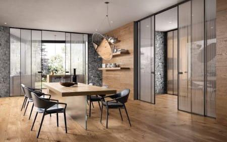 Интериорен проект с интериорни врати Garofoli и Gidea - стъклени врати