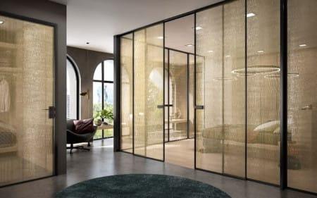 Интериорен проект с интериорни стъклени врати Garofoli и Gidea