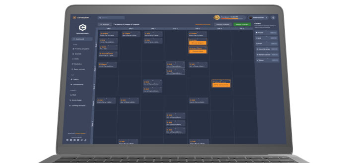 Screenshot of the training program page on the Gameplan platform.