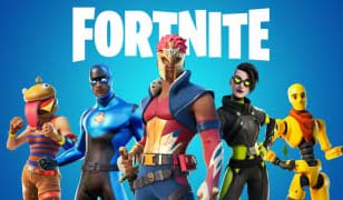 Several Fortnite characters