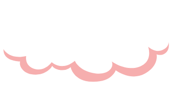 puffy white cloud with pink shadow floating around