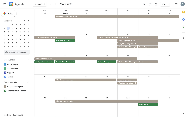 Humi's Time Off software - Google Calendar Ingegration