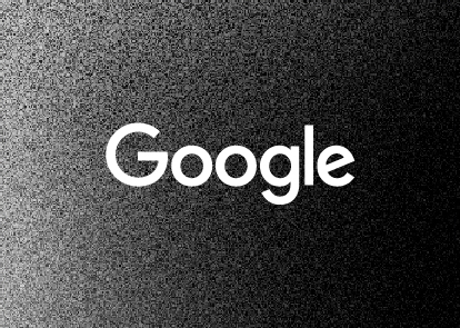 A black textured background with a white Google wordmark