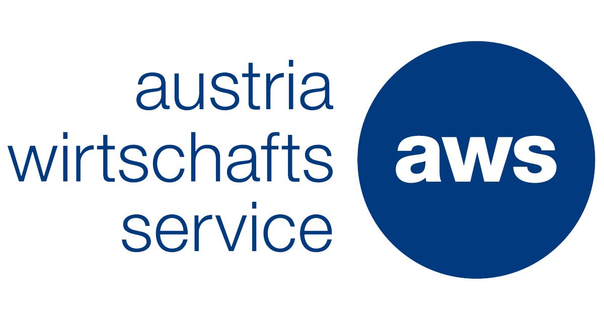 """Das Logo des Austria Wirtschaftsservice. Kurz """"aws"""" in einem blauen Kreis."""