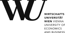 Das Logo der Wirtschaftsuniversität Wien.