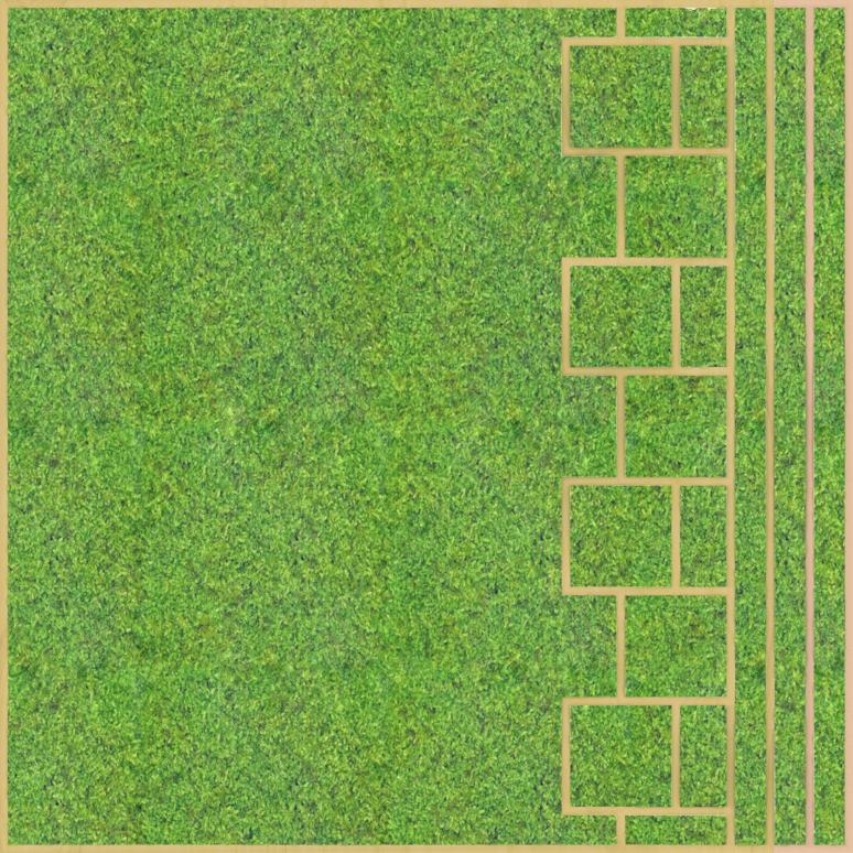 Eine Design-Variante unseres Moospanels mit einem kachelartigen Muster auf der rechten Seite.