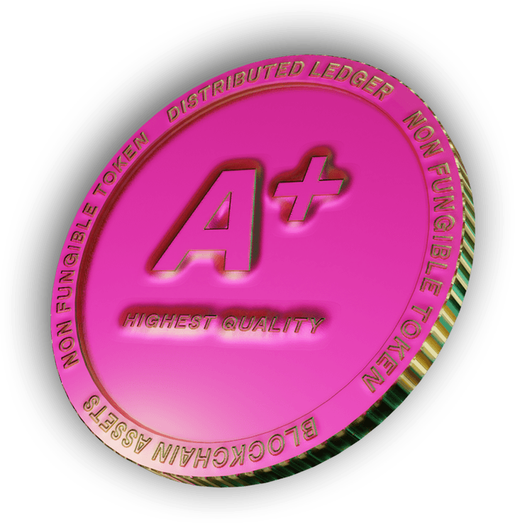 A 3d nft coin illustration