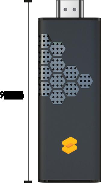 Dimensions du boitier d'affichage dynamique STEEQ de SIGNAO
