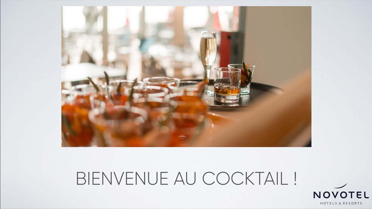 Interface d'affichage dynamique avec message de bienvenue pour les clients d'un hôtel