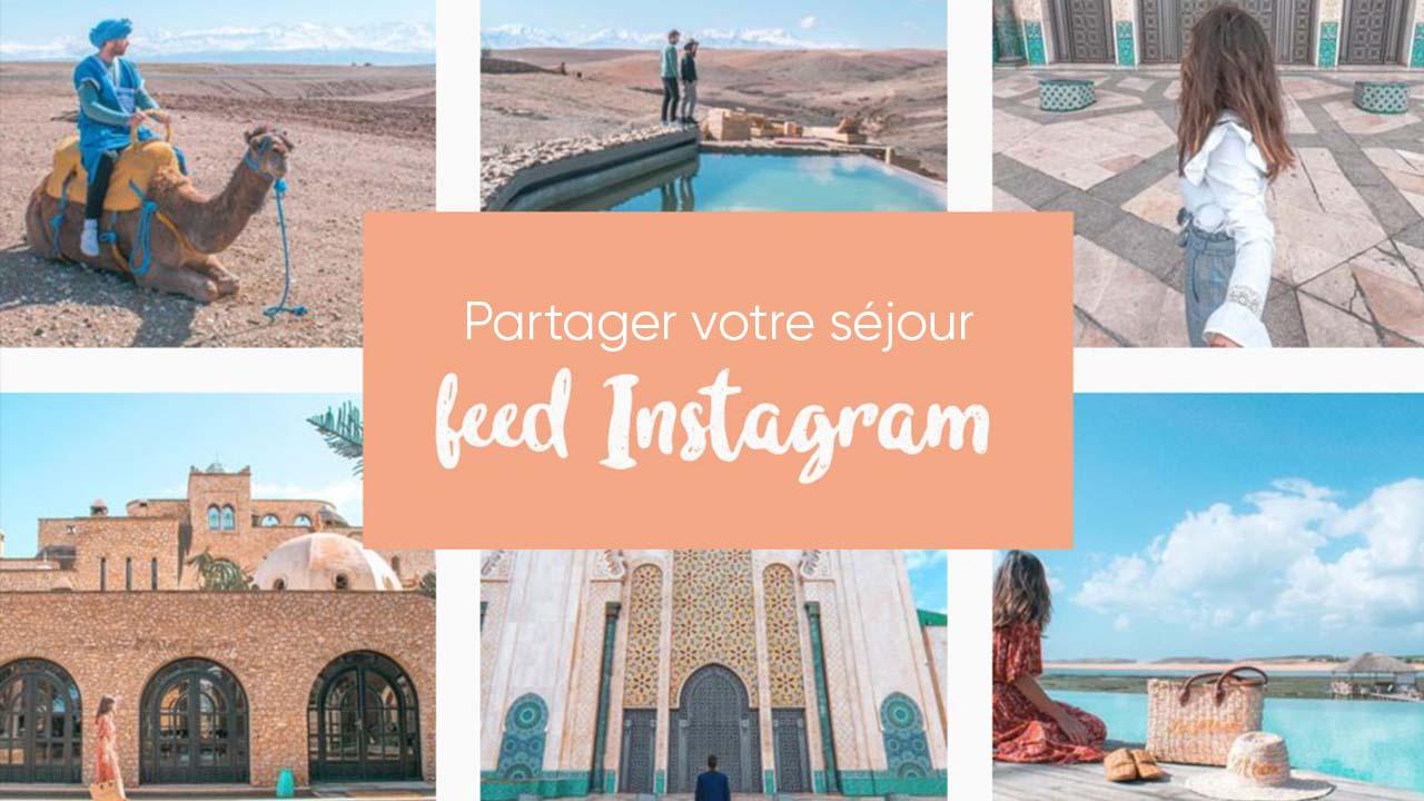 Interface d'affichage dynamique avec réseaux sociaux instagram d'un camping
