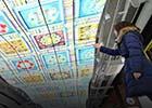 ecran d'affichage dynamique dans un batiment d'architecte d'intérieur