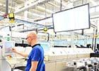 ecran d'affichage dynamique dans une usine