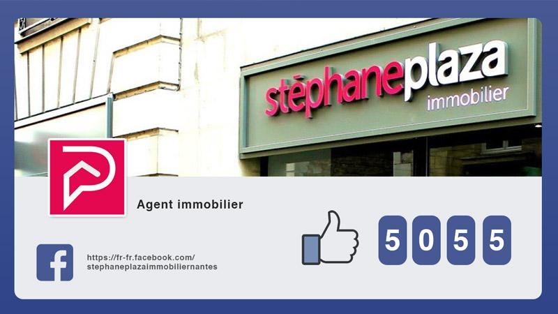 Interface d'affichage dynamique avec réseaux sociaux facebook d'un agence immobilière