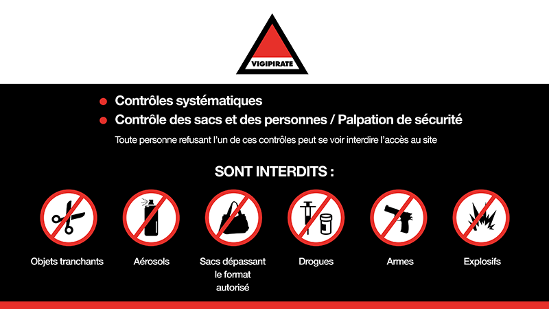 Interface d'affichage dynamique message d'alerte sécurité pour un centre des congrès