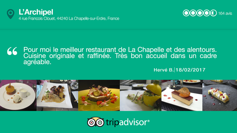 Interface d'affichage dynamique enquête de satisfaction et avis des clients d'un restaurant