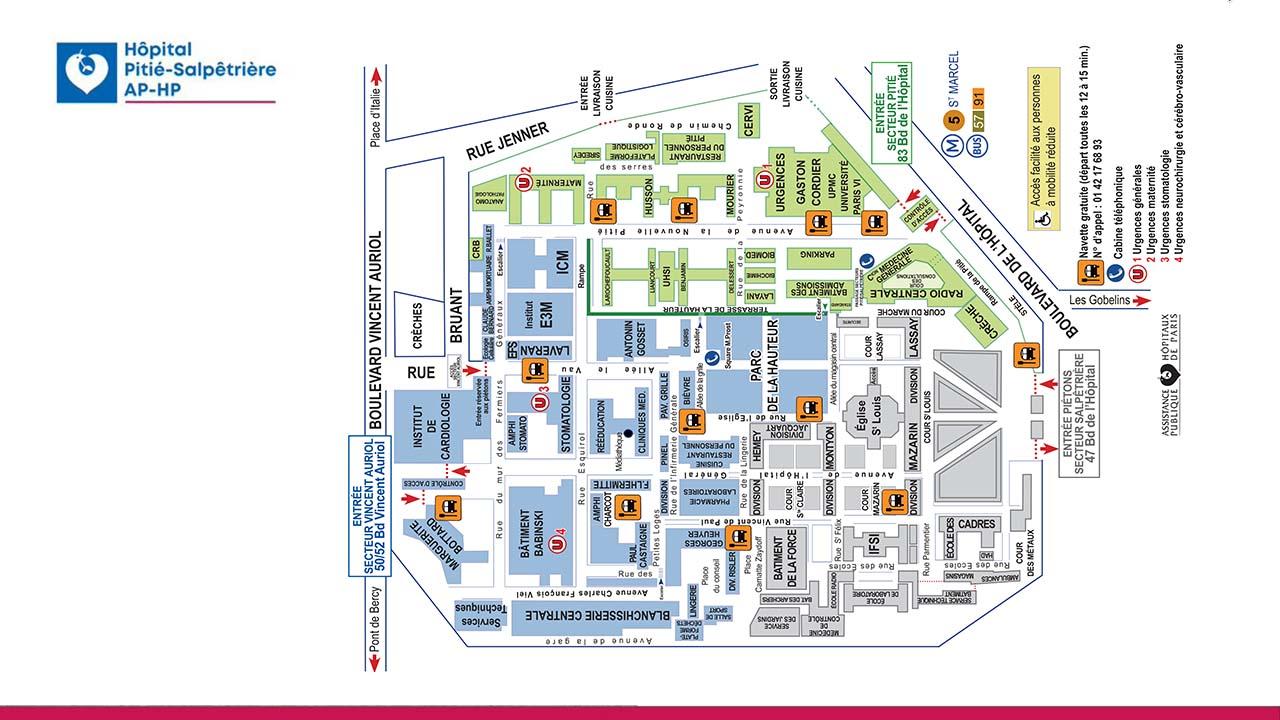 Plan interactif d'affichage dynamique dans un hôpital