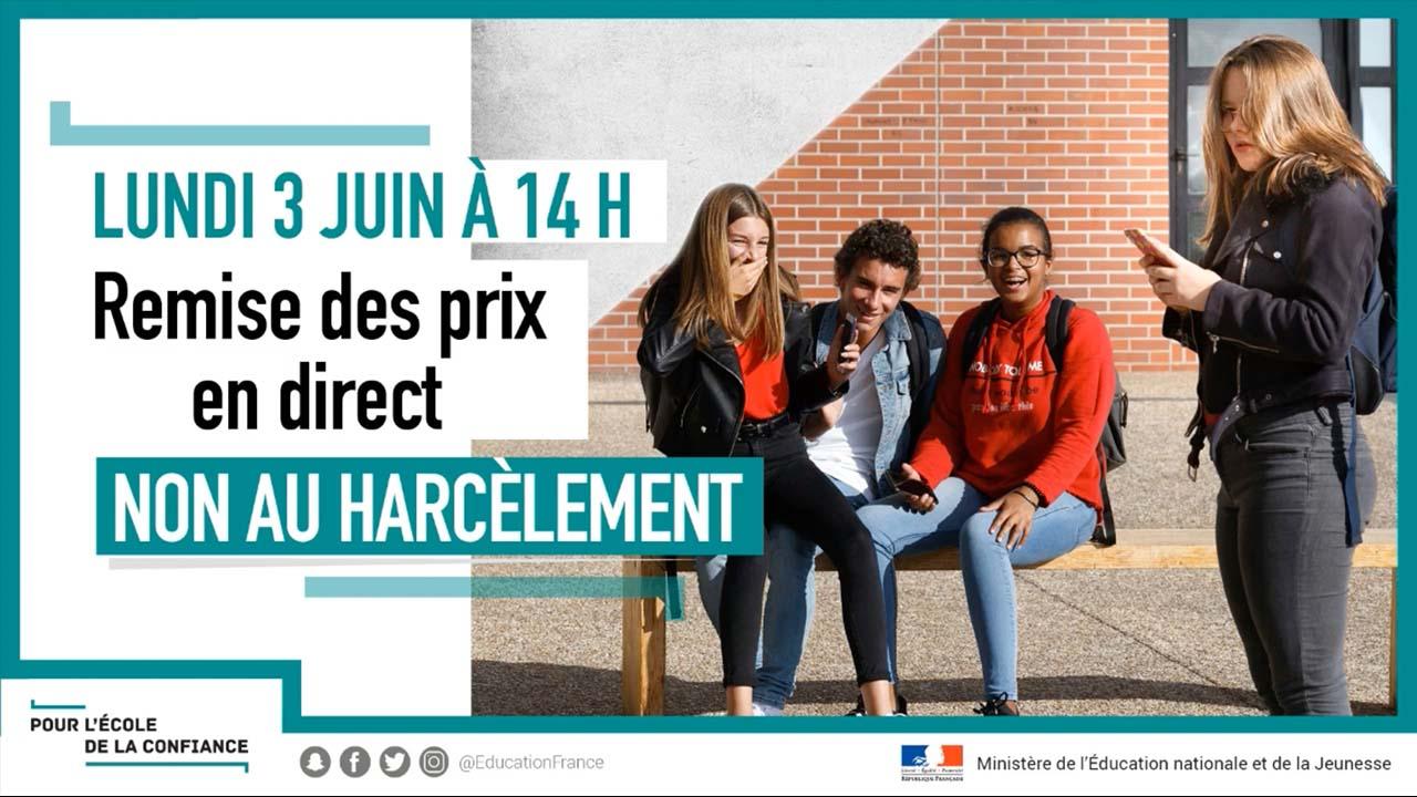 Interface d'affichage dynamique avec campagne de sensibilisation autour du harcèlement scolaire