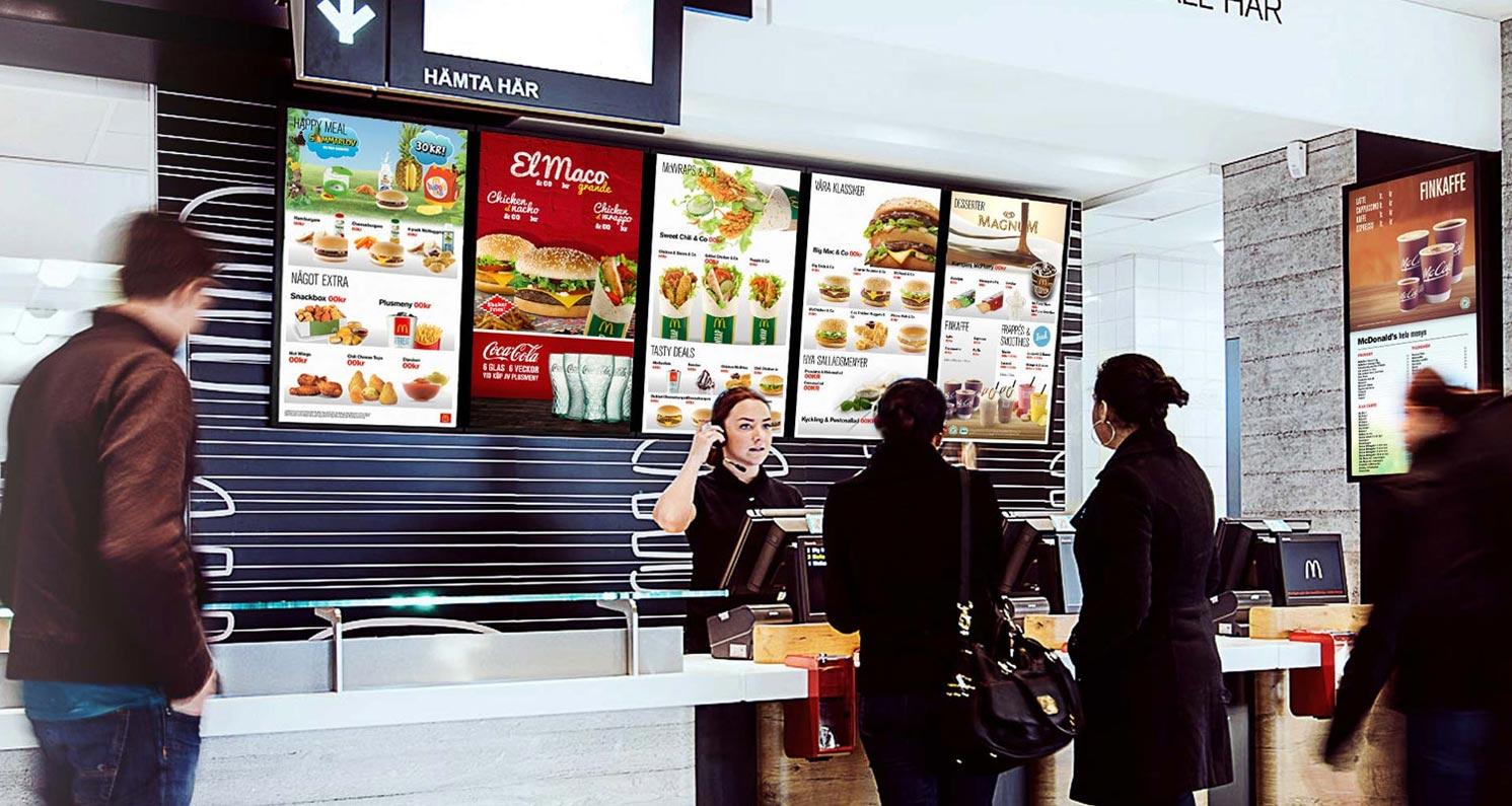 Avec l'affichage dynamique, le restaurant du futur c'est aujourd'hui !