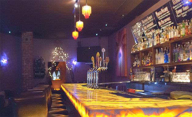 Sugar Lounge's elegant bar.