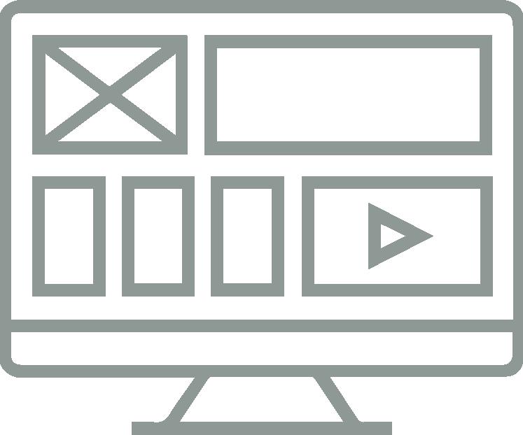 green/grey ui design icon