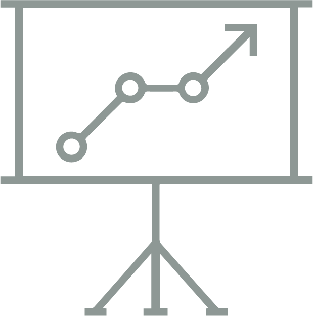 green/grey strategy icon