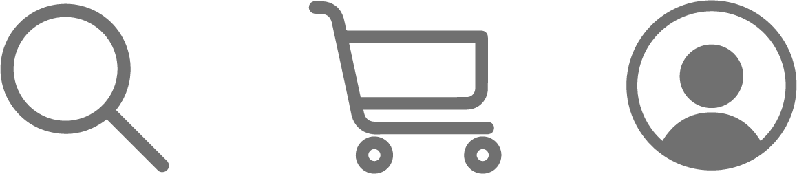 search icon-shopping cart-account icon