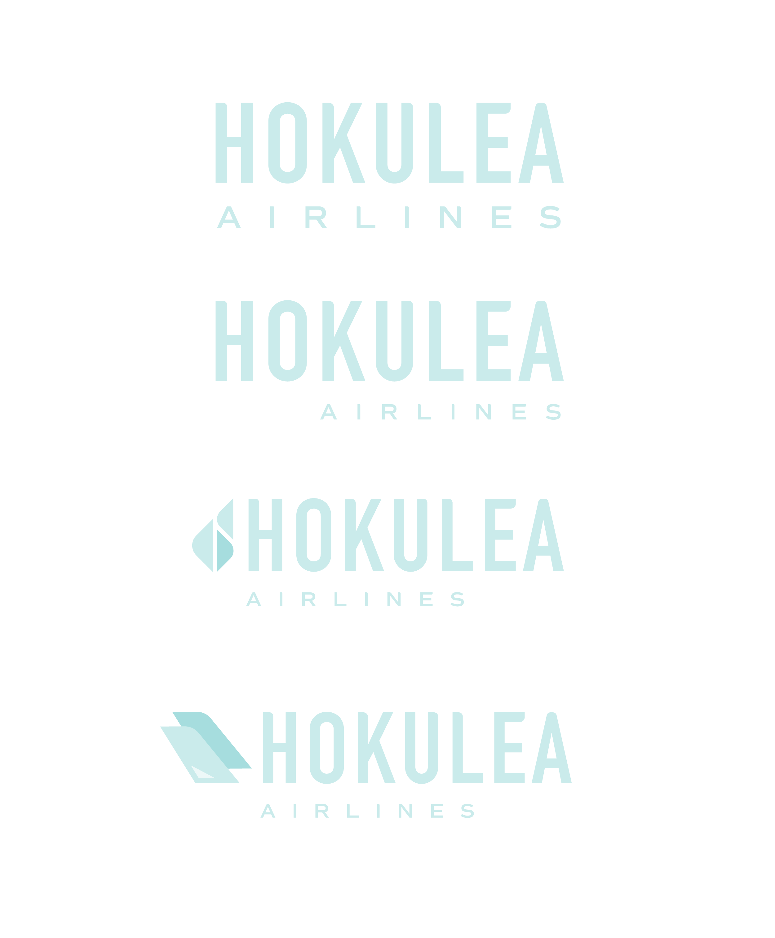 various iterations of the hokulea logo