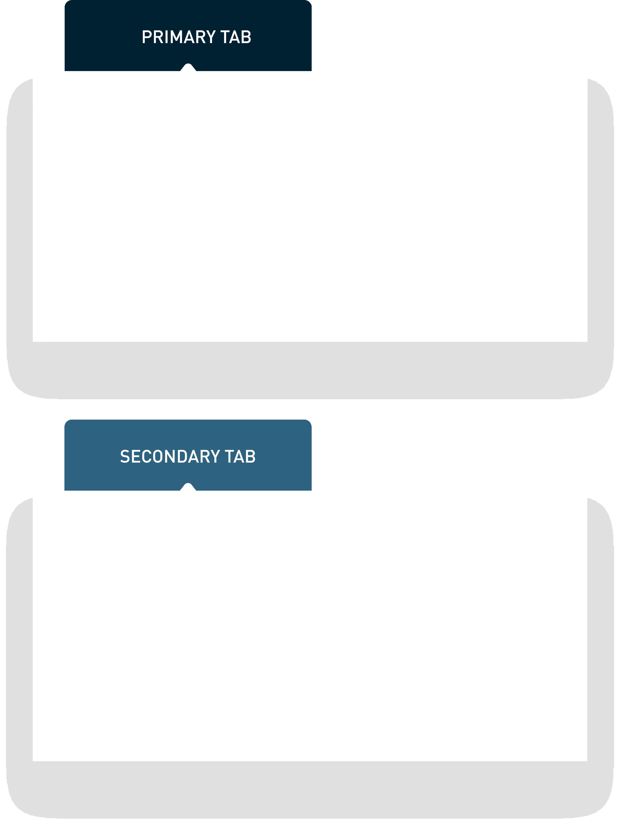 various tab styles