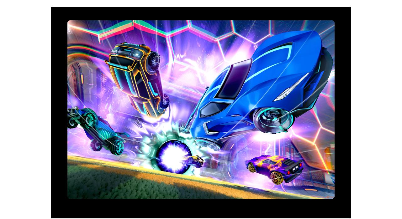 Rocket League flying car wallpaper