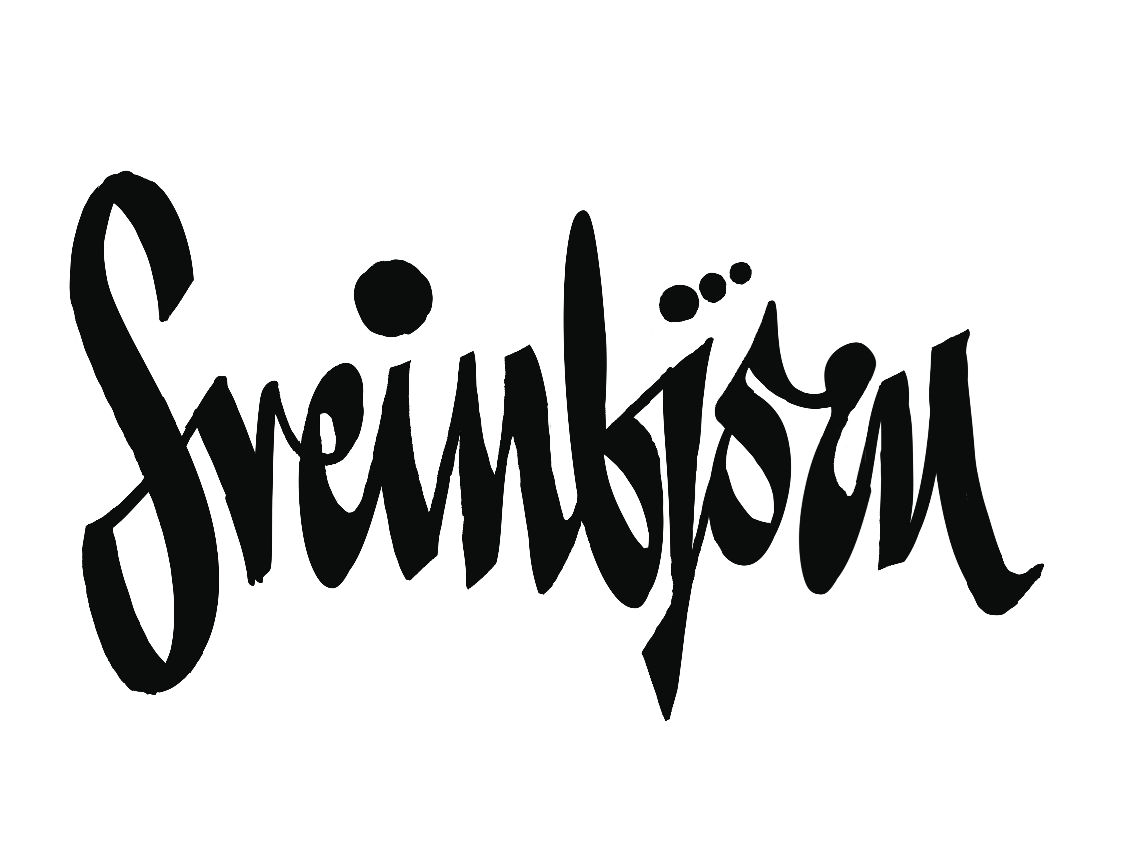Site logo, Sveinbjörn, my name, drawn in a 50's lettering style. I'm quite happy with it.