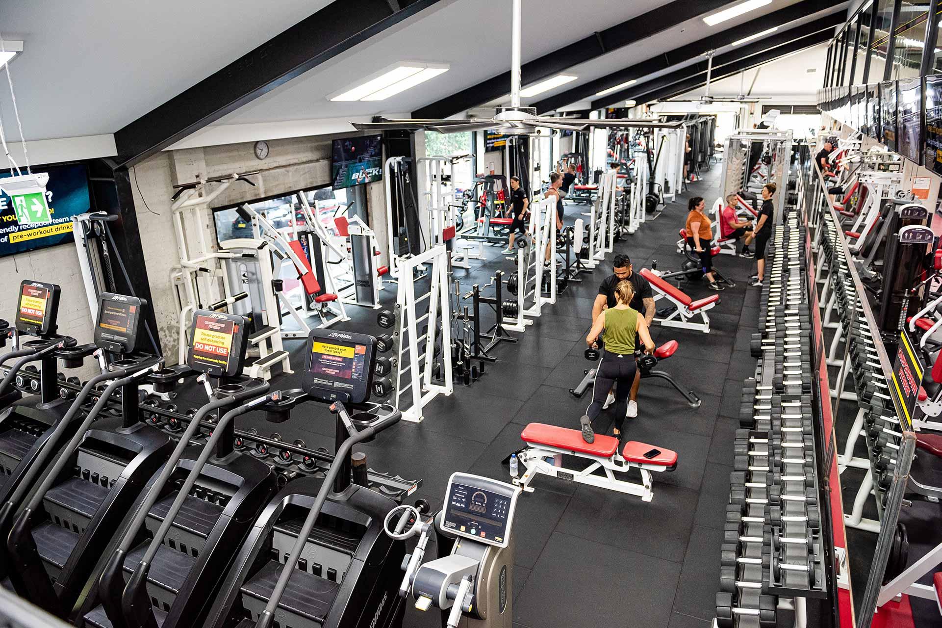 Camperdown Fitness main gym floor