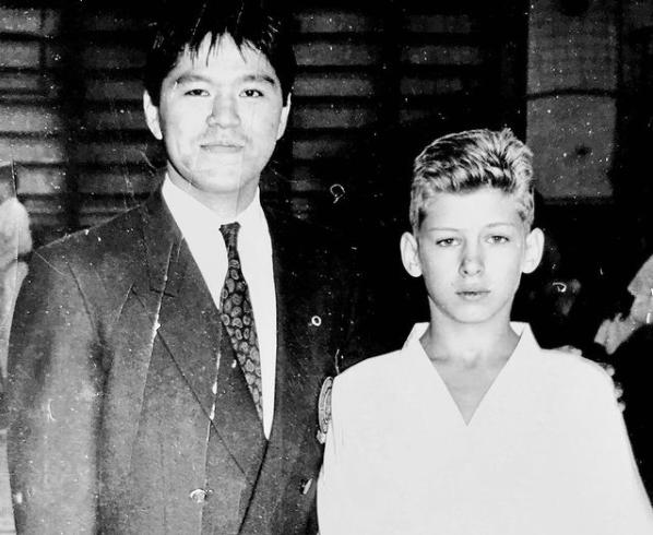 Igor with one of his early master instructors, Manabu Murakami.