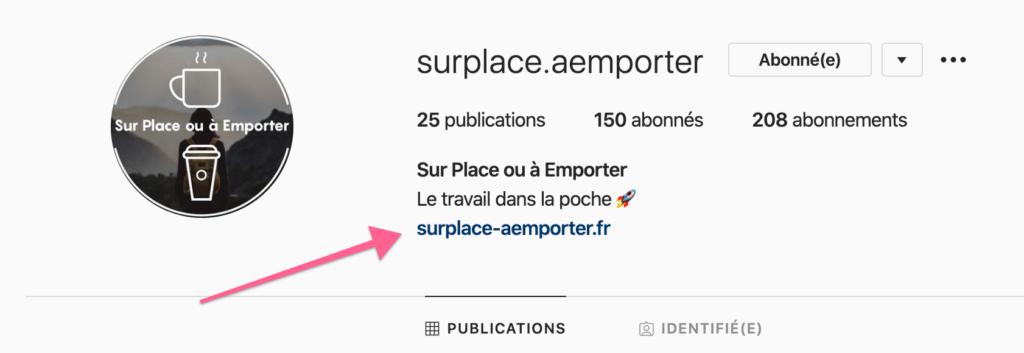 Mettre un lien sur Instagram bio