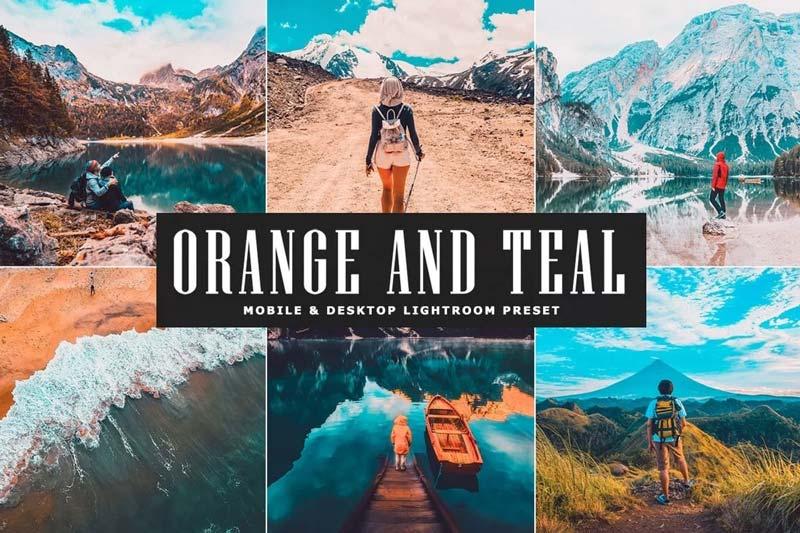 Preset orange and teal