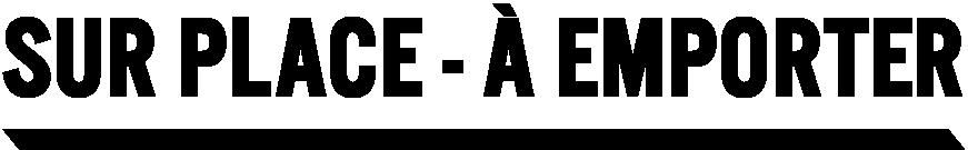 Logo Sur Place - À Emporter