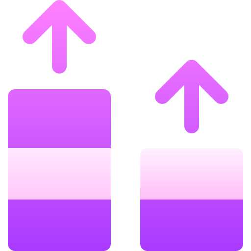 Responsive web design icon in pink.