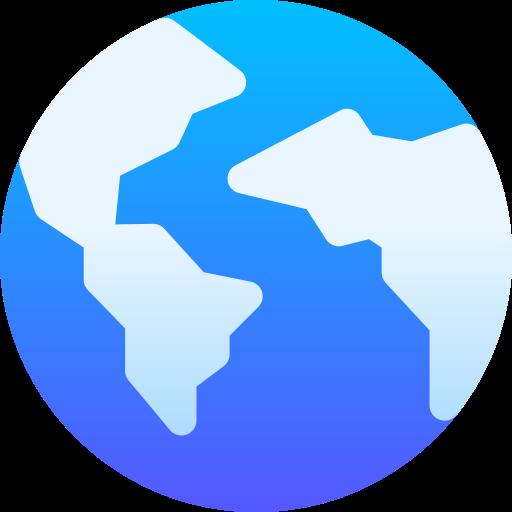 Website Design Lancashire blue globe icon.