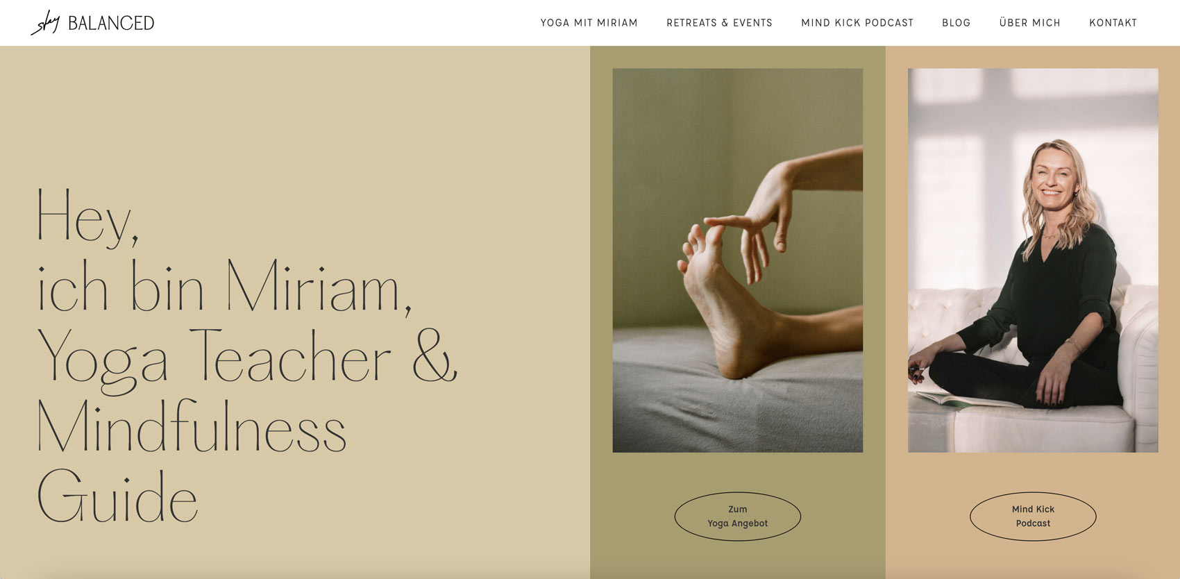 website redesign for a mindfulness coach by Alexandra Linortner