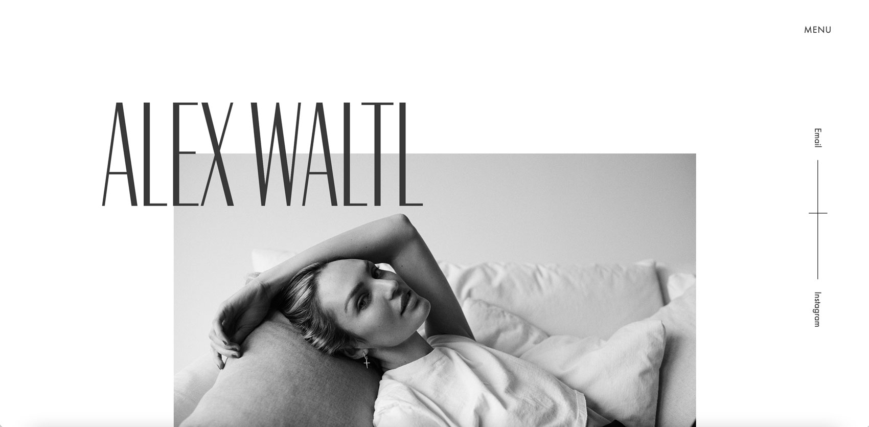 Design of the portfolio website of Alex Waltl by Alexandra Linortner