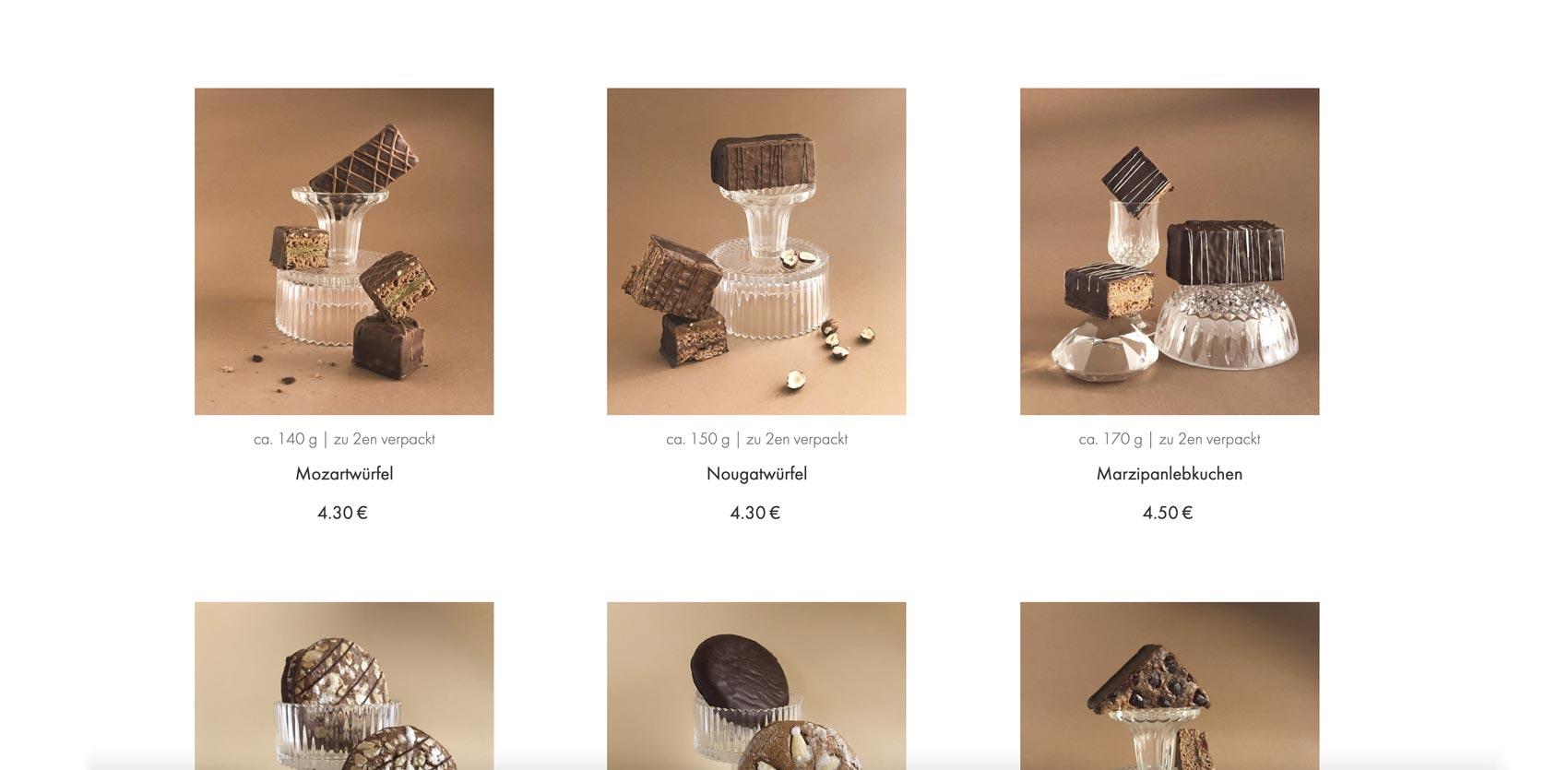 Website and webshop design for a cafe in Austria by Alexandra Linortner