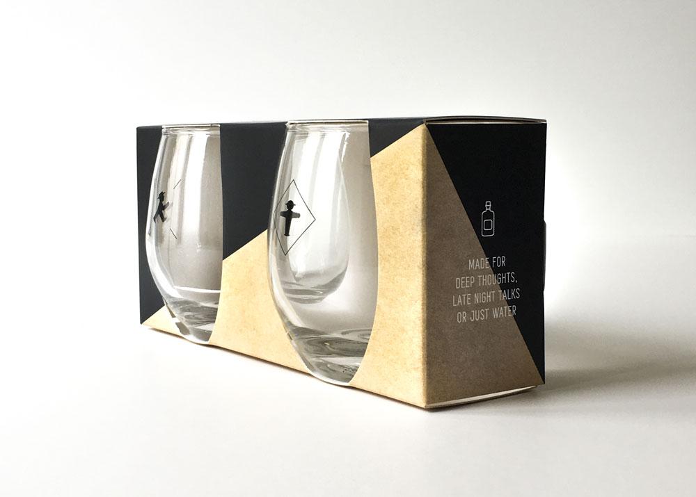 Packaging design for drinking glasses by Alexandra Linortner