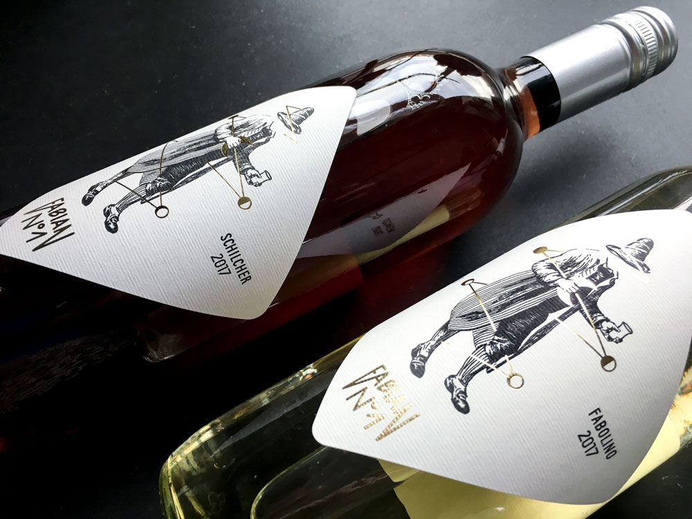 Wine label design by Alexandra Linortner for winery Trapl in Styria
