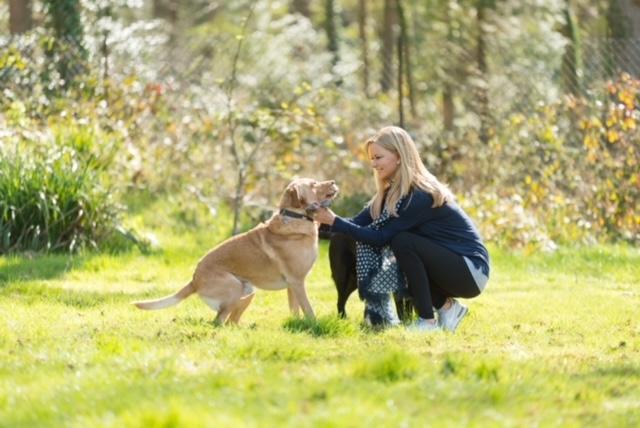 Elizabeth and her dog