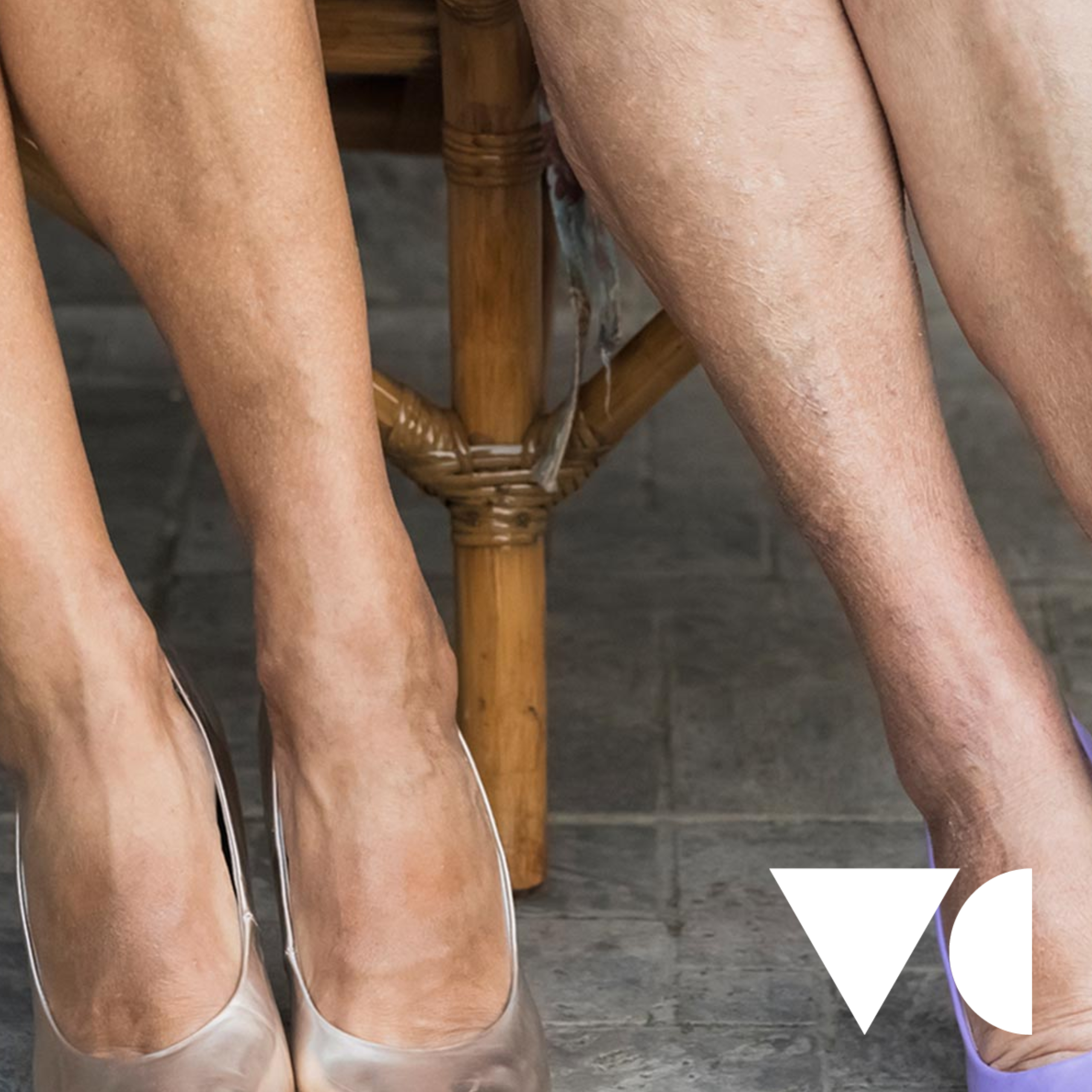 UK Vein Clinic brand photo showing older lady beautiful legs
