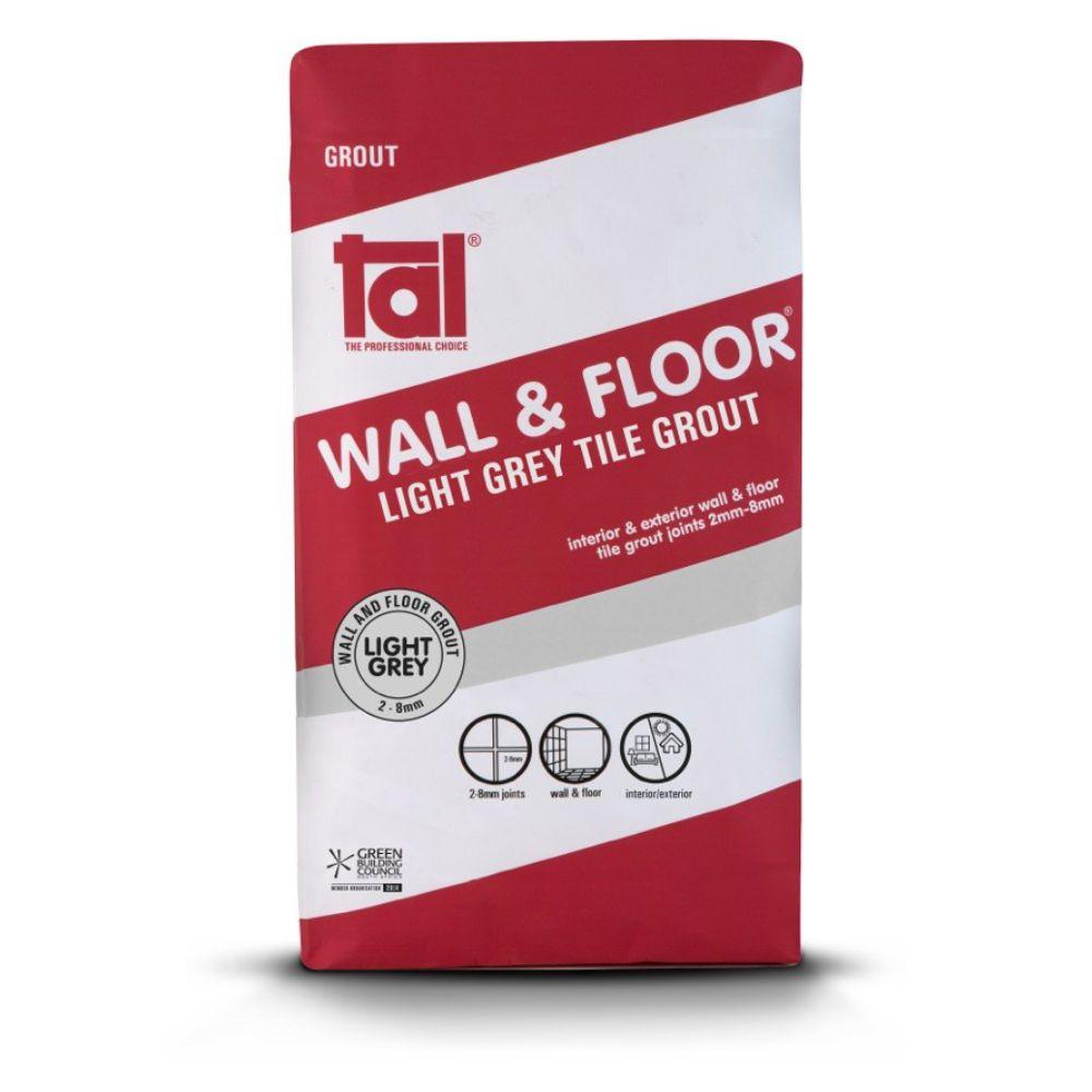 Wall & Floor Light Grey Grout 20kg