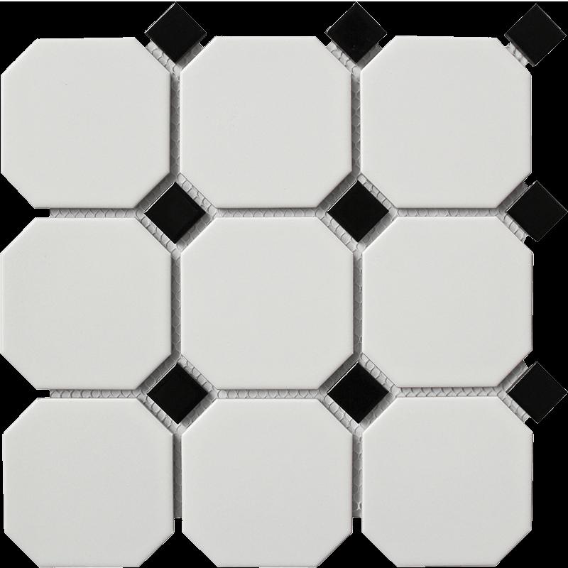 Large White Octagonal