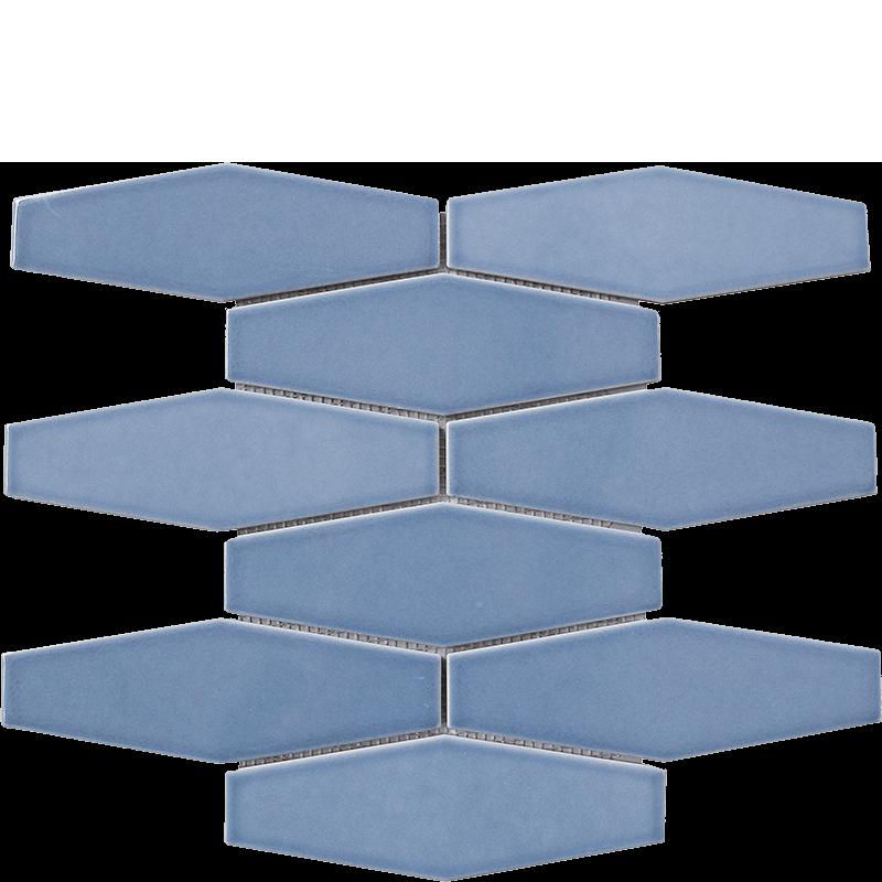 Steel Blue Long Hexagonal Mosaic